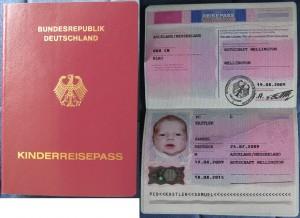 Mein deutscher Kinderreisepass